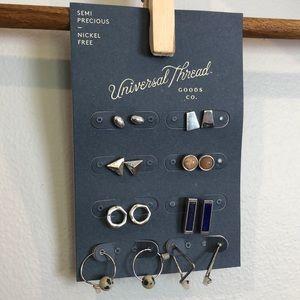 Universal thread 8 pair of earrings
